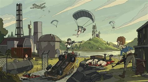 wallpaper video games digital art pubg cartoon gun