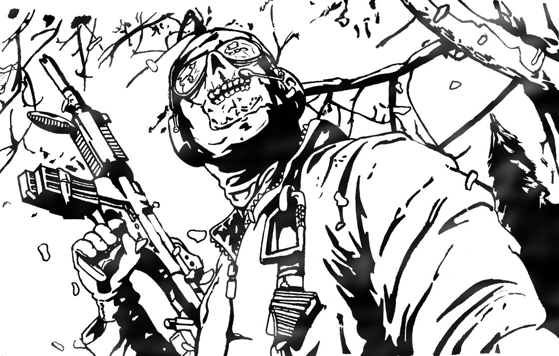 Élégant Coloriage Call Of Duty Ghost A Imprimer