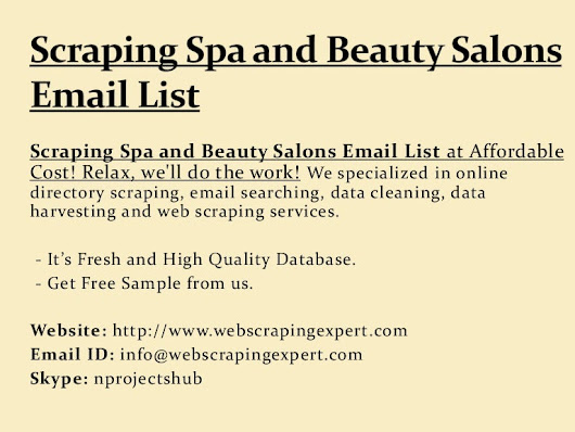 Scraping Spa and Beauty Salons Email List