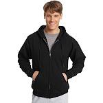 Hanes ComfortBlend EcoSmart Full Zip Hoodie - P180 - Black