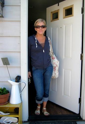 Mama ready for the flea market in SF