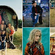 21st century Gypsies: Stunning pictures show how new age travellers are now adopting traditional horse-drawn caravans