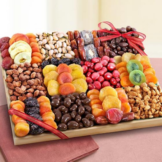 Sweet Extravagance Grand Chocolate, Nuts & Fruit Tray