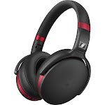 Sennheiser - HD 4.50 Wireless Noise Canceling Over-the-Ear Headphones - Black/Red