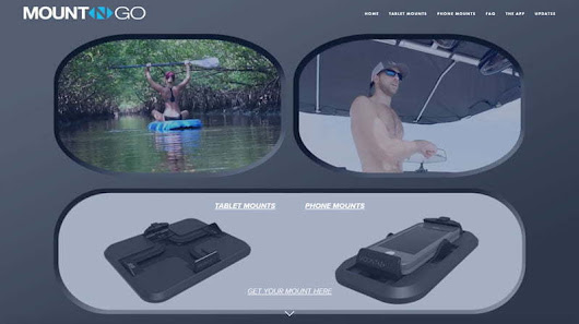 B2C Website Design for Smartphone and Tablet Mount Accessory