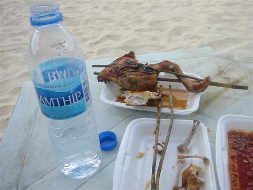A roasted chicken wing on the beach - a few years ago, anyway