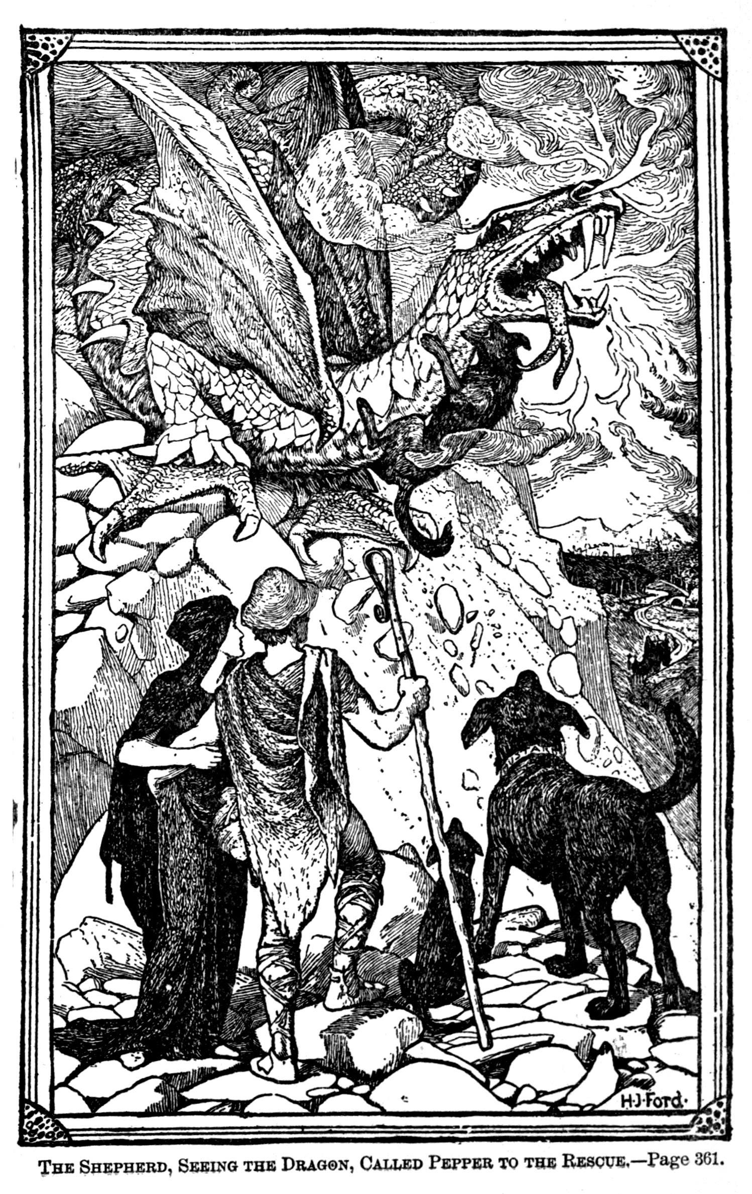 Henry Justice Ford - The green fairy book, edited by Andrew Lang, 1900 (illustration 9)