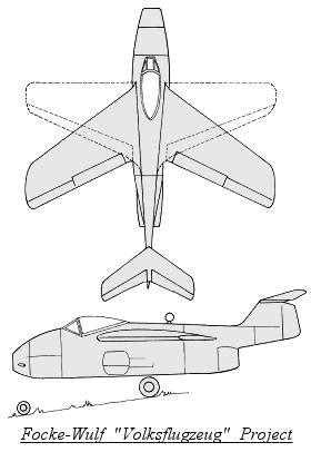 Focke-Wulf Volksflugzeug Project Luft '46 entry