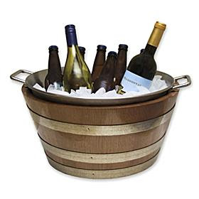 Handcrafted Oak Wine Barrel Ice Bucket