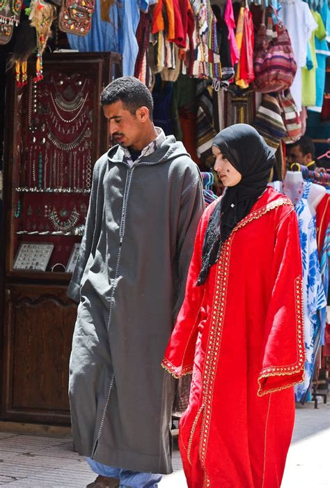 moroccan clothes  traditionally rich  varied