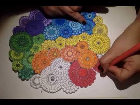 Secret Garden Coloring Book Rainbow Flowers