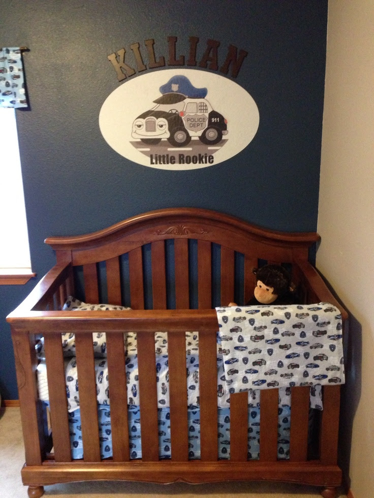 Police baby nursery.....LOVE! MY SON WILL HAVE THIS! OMG!!!!