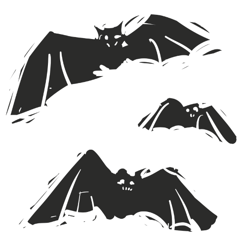 Flying Bats Set of 3 Wall Decals - CoolWallArt