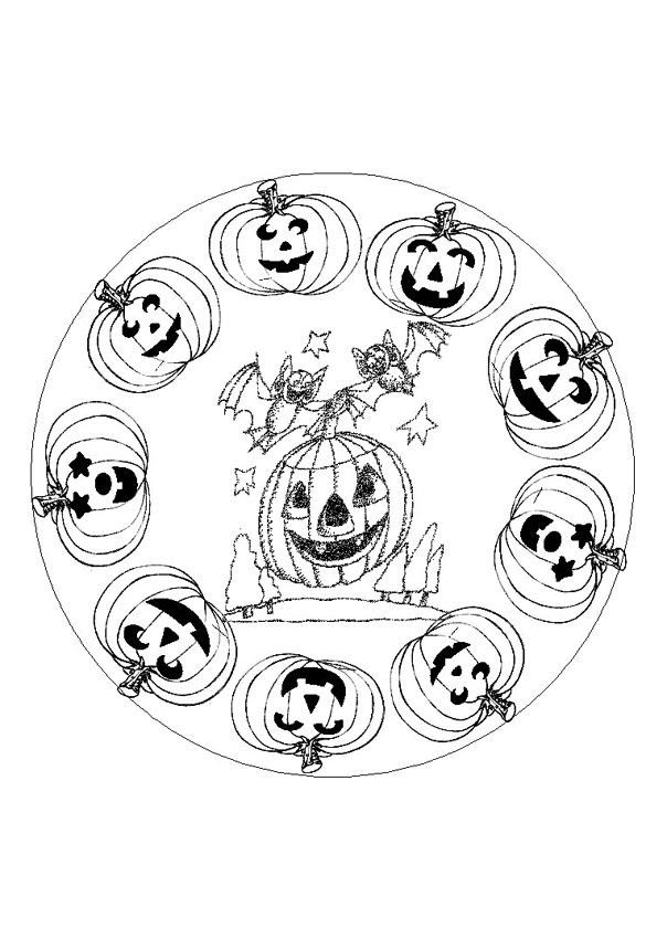 Mandalas Halloween Coloriages Coloriage à Imprimer Gratuit Fr