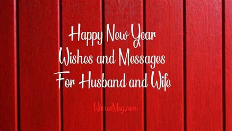 Romantic New Year Messages For Husband & Wife   WishesMsg