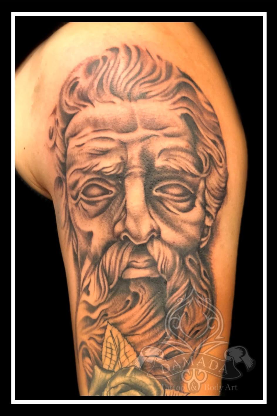 Portfolio Black And Grey Tattoos Damada Tattoo Body Art