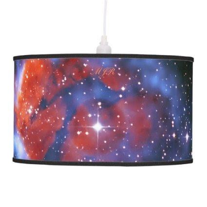 Monogram Gum 58 Emission Nebula, outer space image Ceiling Lamp