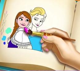 Frozen Boyama Kitabı Oyna
