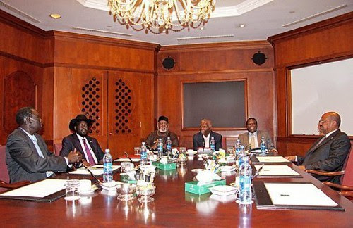 Discussions to resolve the differences between Sudan and South Sudan made headway in Ethiopia. President Bashir and Kiir are here with former South African President Thabo Mbeki, the AU mediator. by Pan-African News Wire File Photos