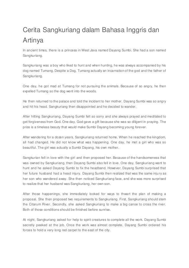 Contoh Cerita Rakyat Indonesia Sangkuriang Contoh Oi