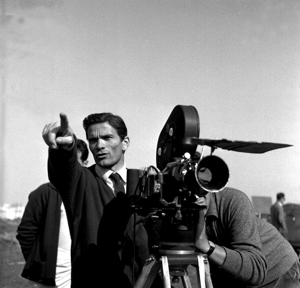 Pier Paolo Pasolini durante el rodaje de 'La Ricotta' en 1962.