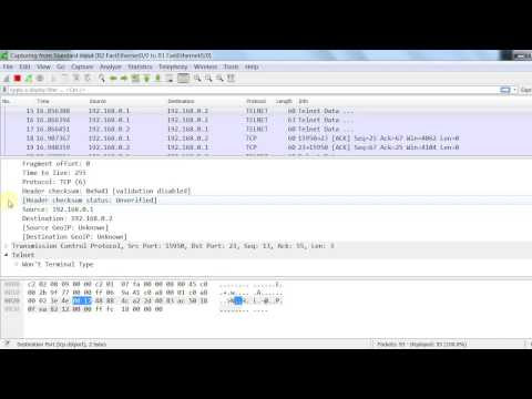 Captura de la clave TELNET con GNS3 y Wireshark