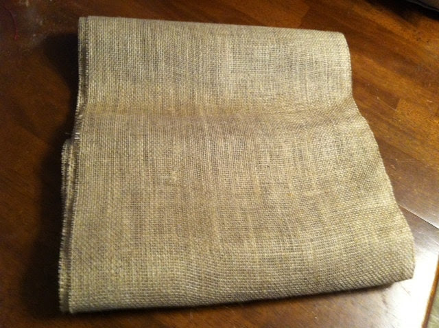 Shabby Chic Rustic Burlap Table Runner 12x120