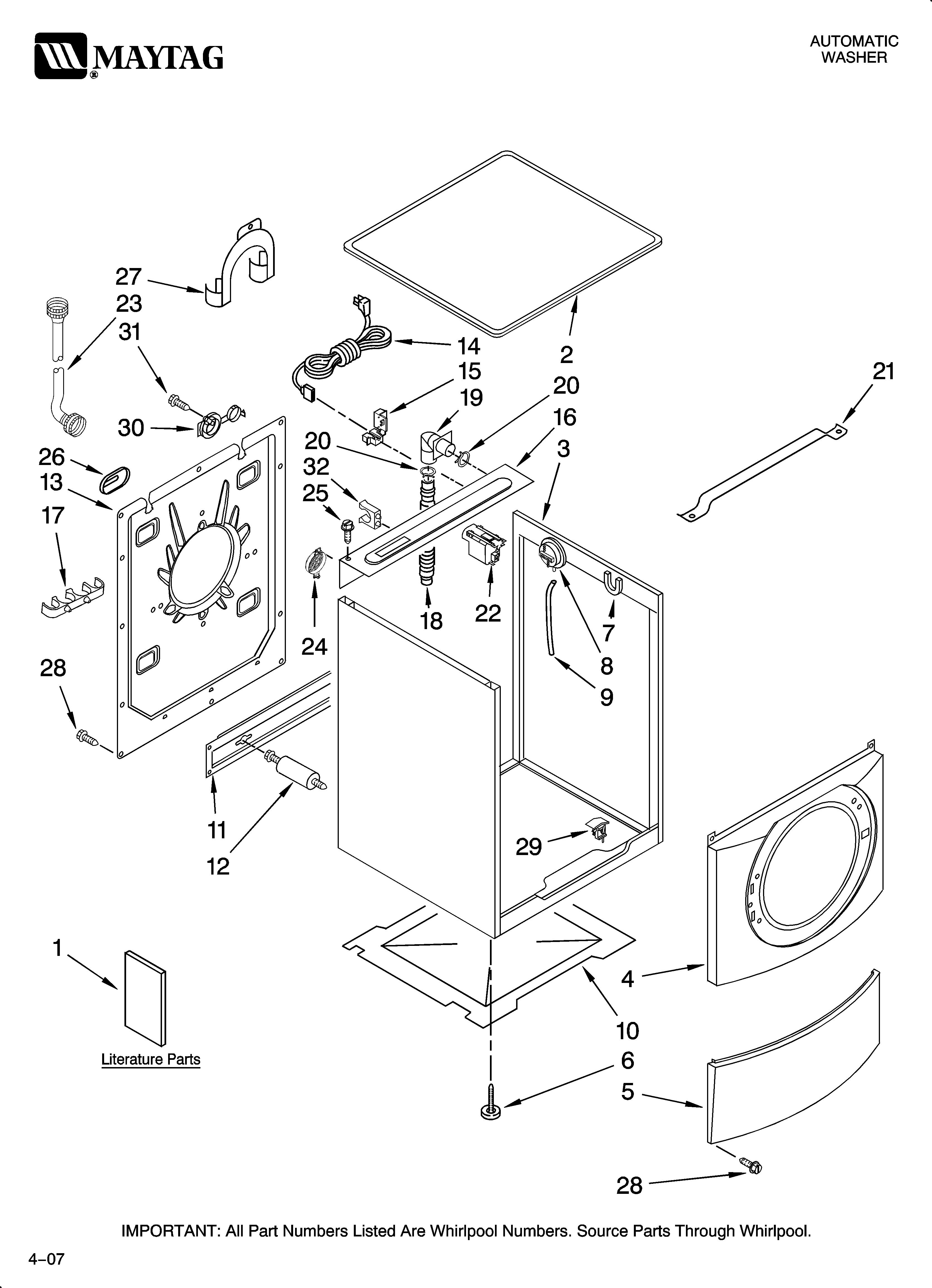 Wiring Diagram: 30 Maytag Washer Diagram