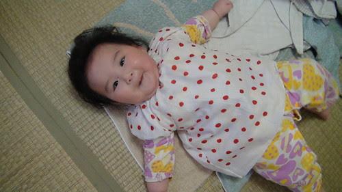 Miyu, her new smock