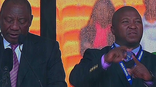 Interpreter at Mandela memorial a fake, group says