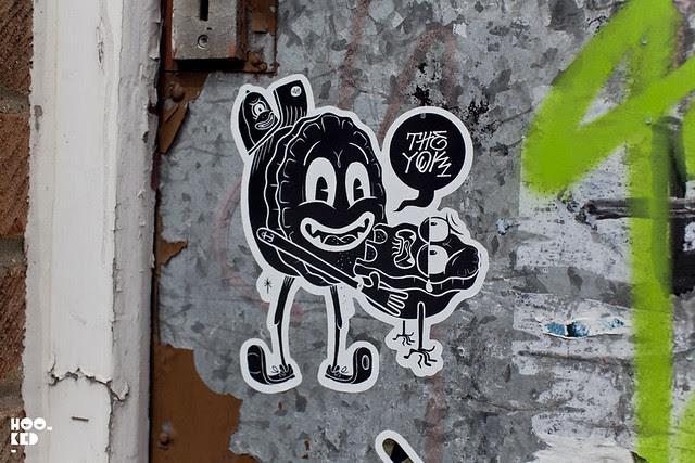 Shoreditch Street Art Stickers - The Yok