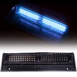 Uni Filter Emergency Dash Light 68 LED Warning Traffic Advisor Strobe With 17 Flashing Patterns Controlled For Fire Security & Traffic Control (Blue)