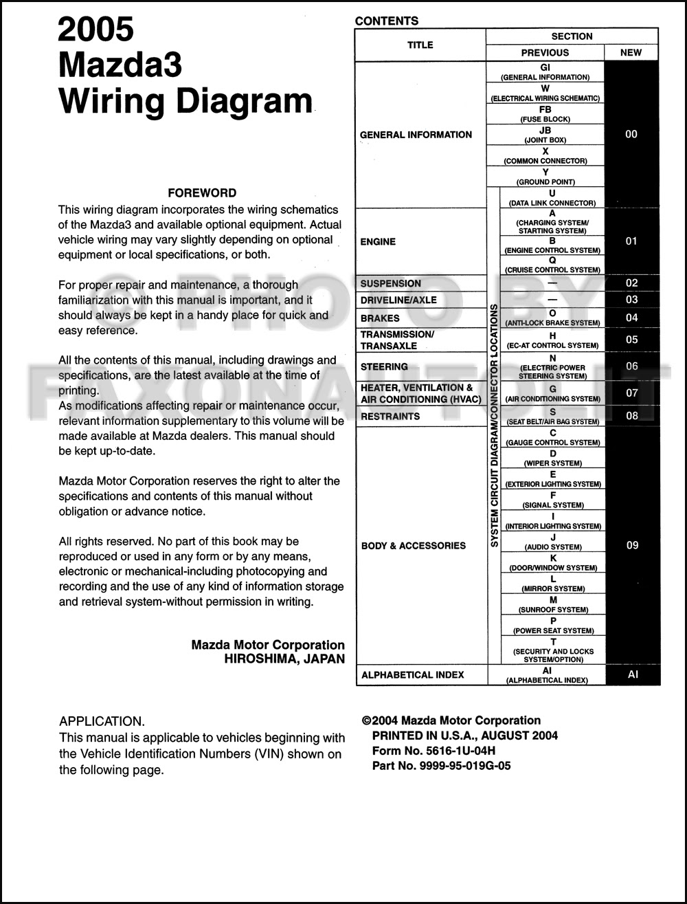 31 Mazda 3 Wiring Diagram