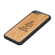 KEEP CALM AND PLAY REGGAE CARVED® CHERRY iPhone 6 BUMPER CASE