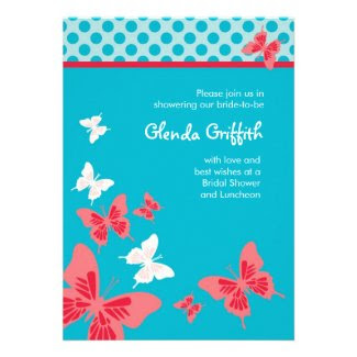 Butterflies Bridal Shower Invitation