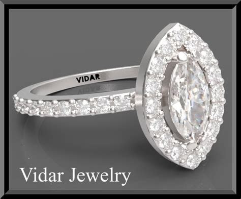 Marquise Diamond Engagement Ring.   Vidar Jewelry   Unique