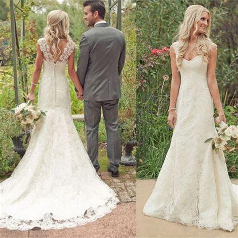Rustic Style Lace Wedding Dress Vestido de Noiva Robe de