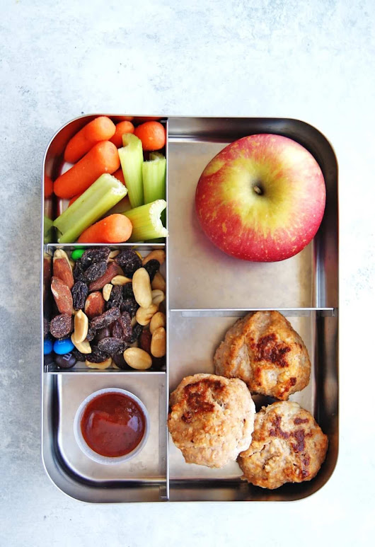 Easy BBQ Meatball Bento Box Lunch - 5 Ingredients - My Everyday Table
