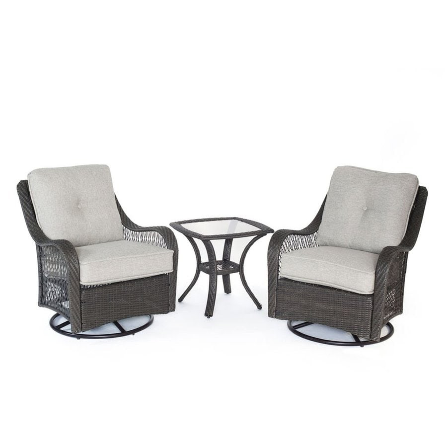 Shop Hanover Outdoor Furniture Orleans 3-Piece Wicker ...