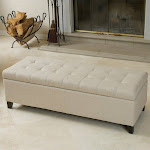Noble House Guadaloupe Storage Ottoman Bench in Beige - 432112CY