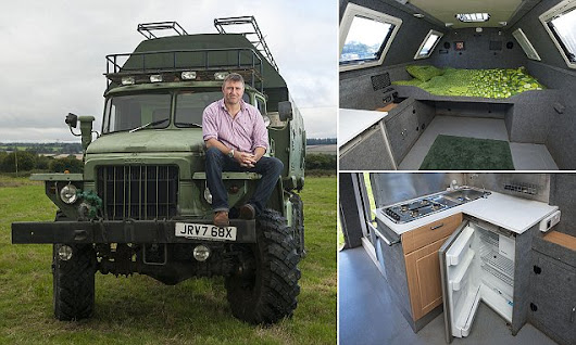 The luxury camper van which was once a Russian Cold War truck