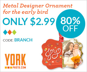 Early Bird Offer: Custom Metal Designer Ornament – Just $2.99 – Save $12!