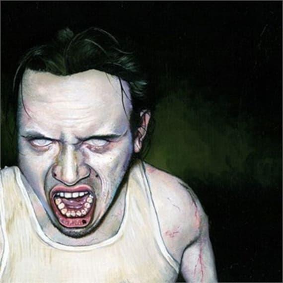 RW2 SHOWER CURTAIN Zombie art Newly Awakened horror by RW2Gallery