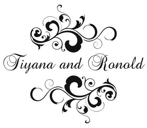 Double Trouble Designs: Custom Wedding Monogram for Tiyana