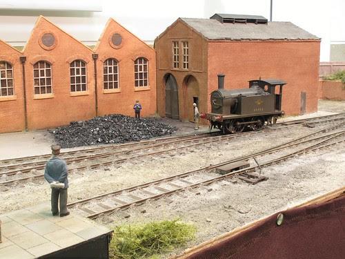 Man watching a train