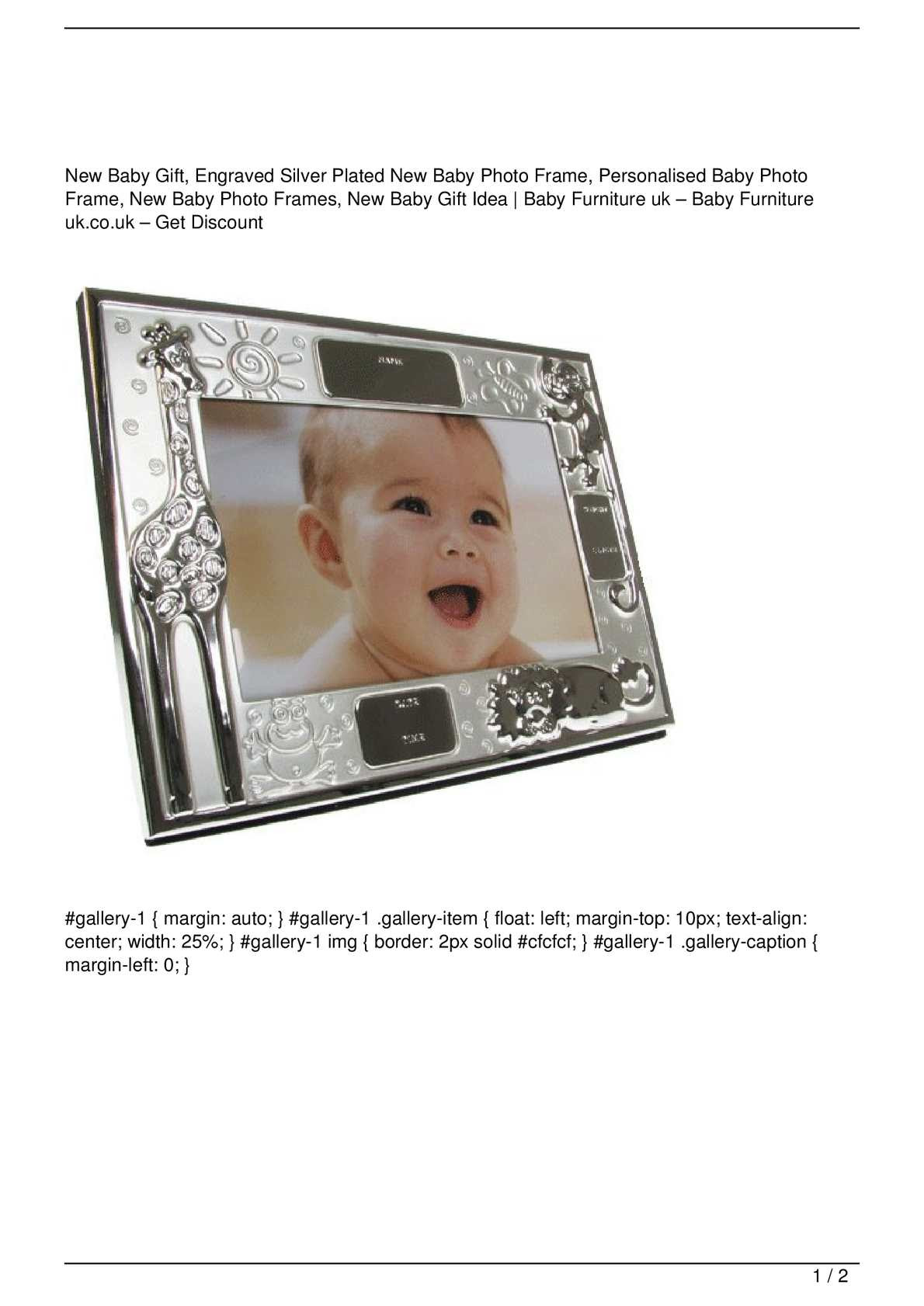 Engraved Silver Plated Baby Photo Album Personalised Baby Gift