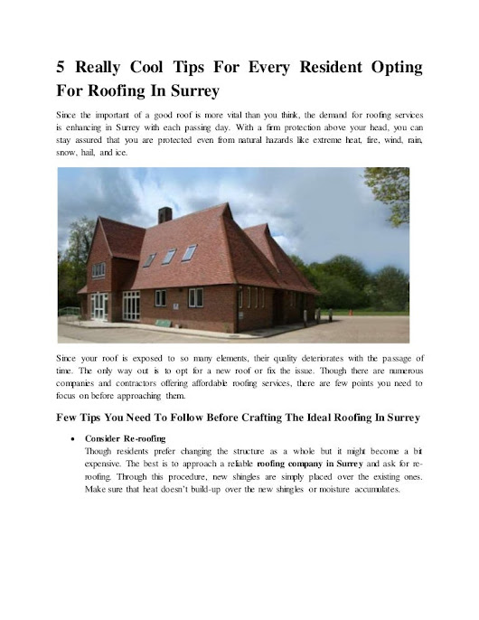 Roofing Repairs in Surrey: Roofing Services Company by Contractors & …