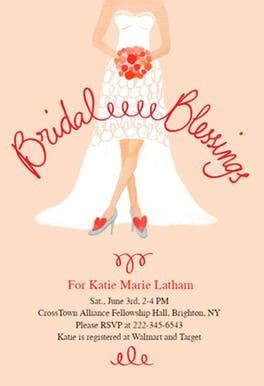 Bridal Blessings   Free Bridal Shower Invitation Template
