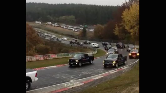 A Bunch Of Ram Trucks Invaded The Nürburgring For A World Record And It's Great