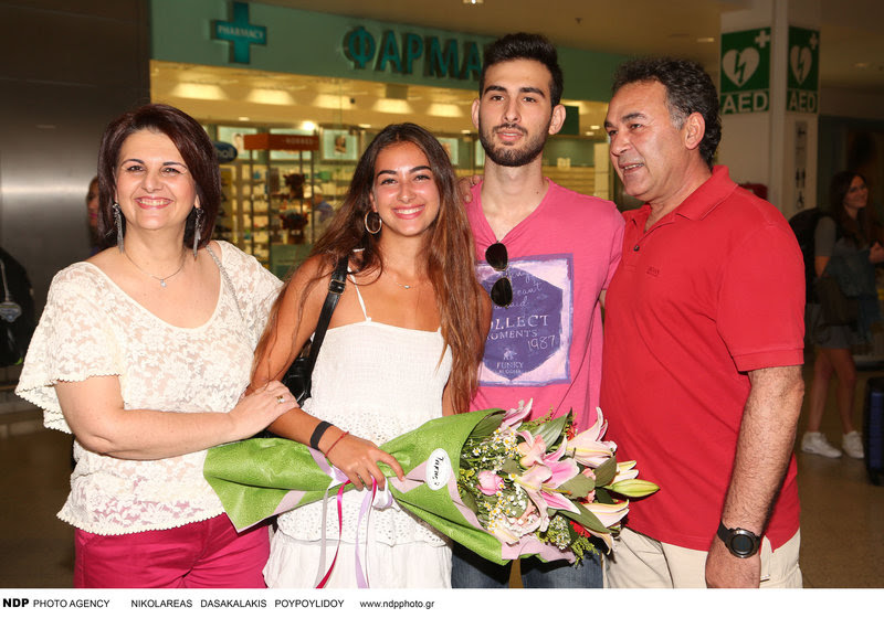 Με την οικογένειά της